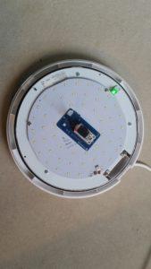 Safecility sensor in emergency light