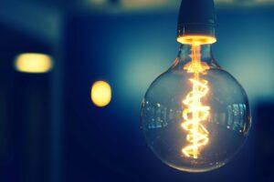 Flipped light bulb